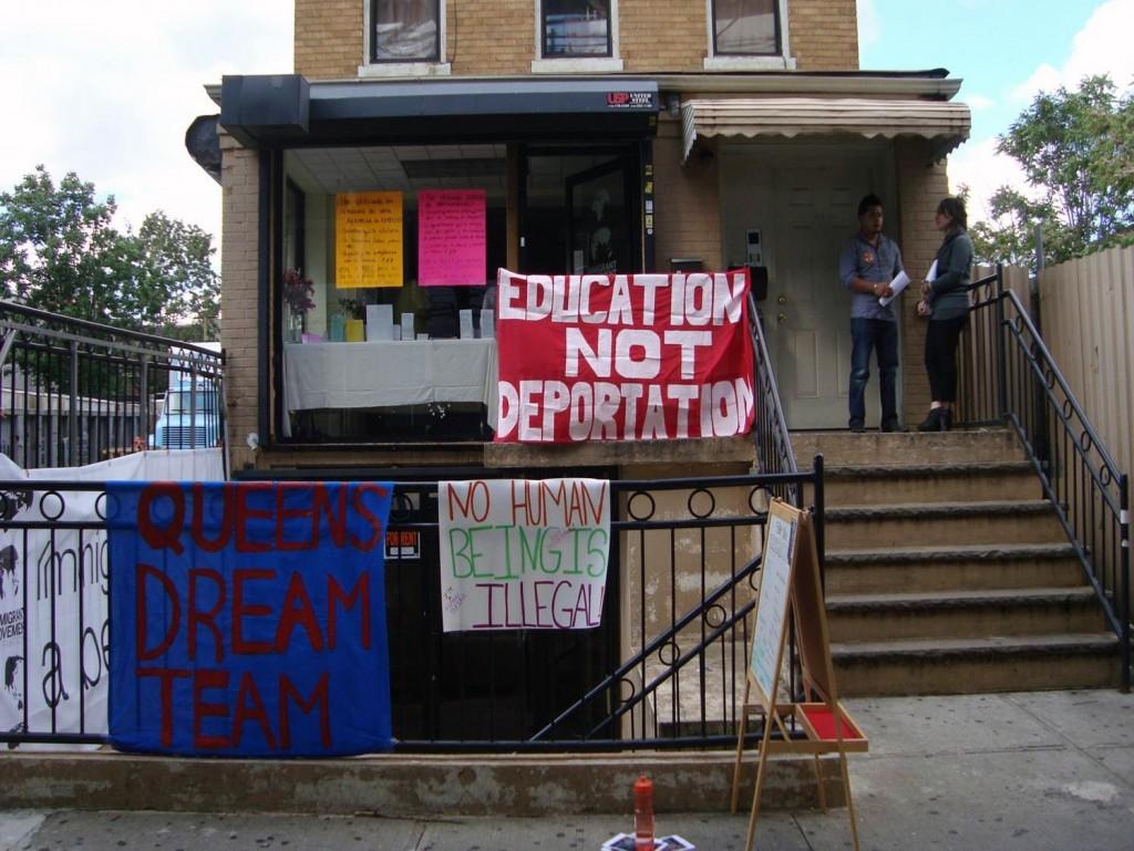 Фасад здания Иммигрантского интернационала в Квинсе, Нью-Йорк // Фото: queensmuseum.org