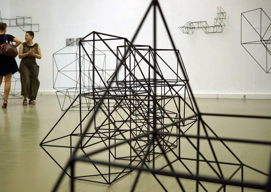 Анна Желудь, Упражнение, вид экспозиции, XL Projects, Москва, 2013 // Фото предоставлено XL Projects