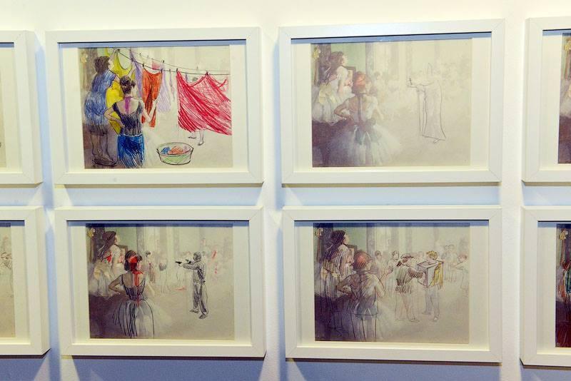 Анастасия Потемкина, работы из серии «Дега. Балетный класс», выставка «Рисовать», галерея Anna Nova, Санкт-Петербург, 2013 // Фото предоставлены галерее Anna Nova