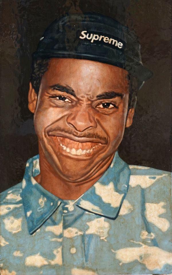 Александр Чурсин. Портрет Earl Sweatshirt эпохи Проторенессанс. Левкас,темпера. 2014