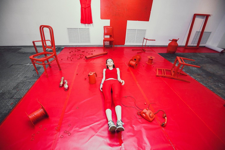 Тина Васянина. Розовый, серый, красный, белый. 2015