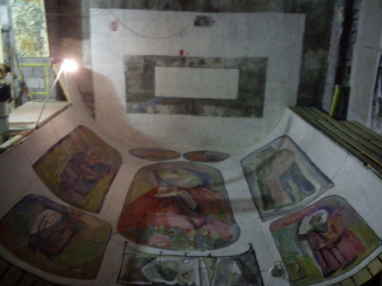 Рампа для скейтбординга в галерее «Кубива», расписанная группой ЖКП