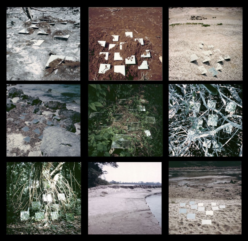 Robert Smithson. Yucatan mirror displacements 1-9