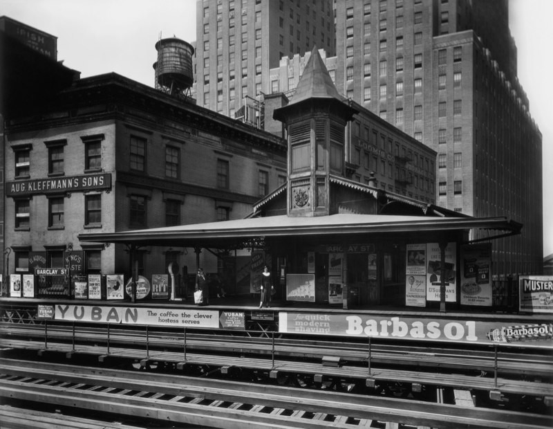 Barclay Street Station, New York, 1932