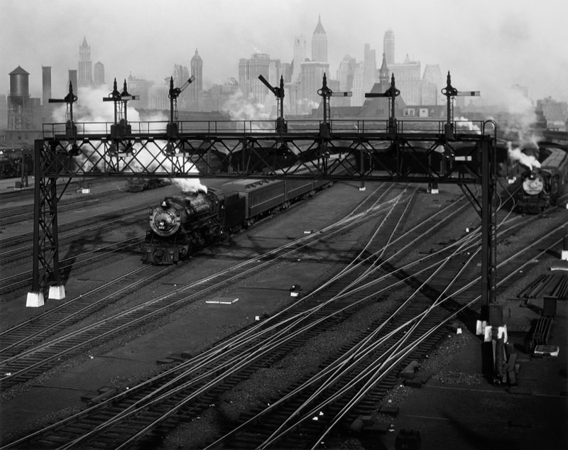 Hoboken Railroad Yards Looking Towards Manhattan, New Jersey, 1935