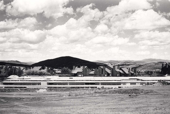 Snowflower Condominiums, looking North toward Three Kings Condominiums and Quarry Mountain, 1986