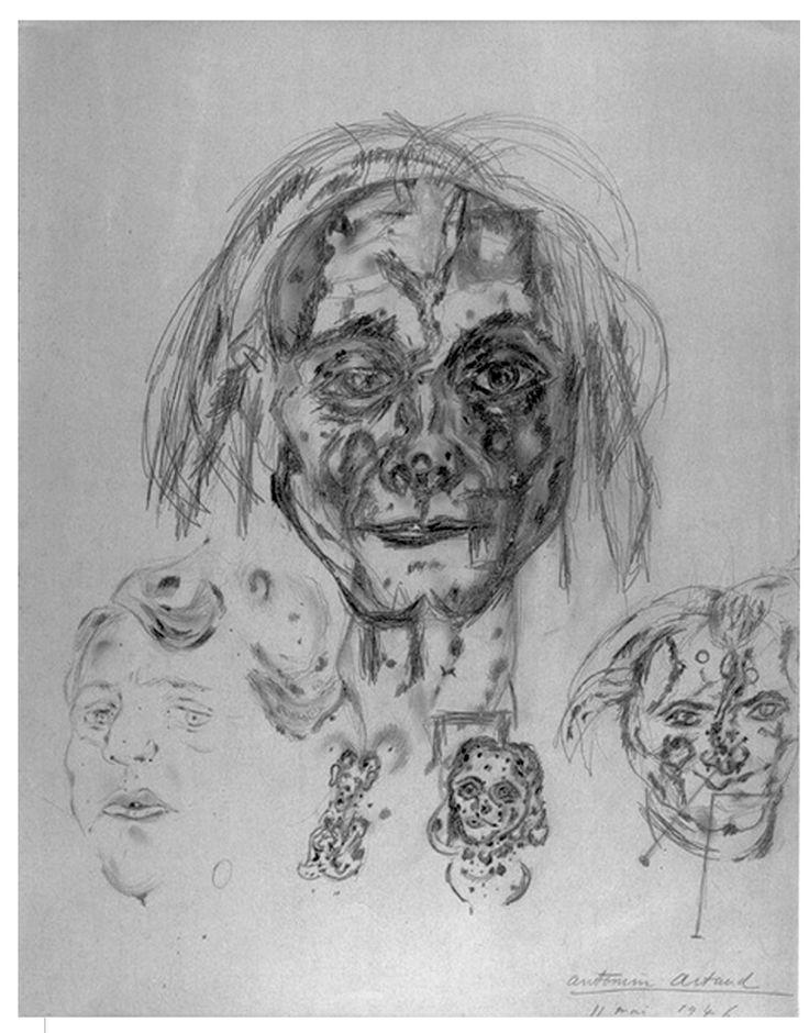 Антонен Арто. Без названия (автопортрет). 1946