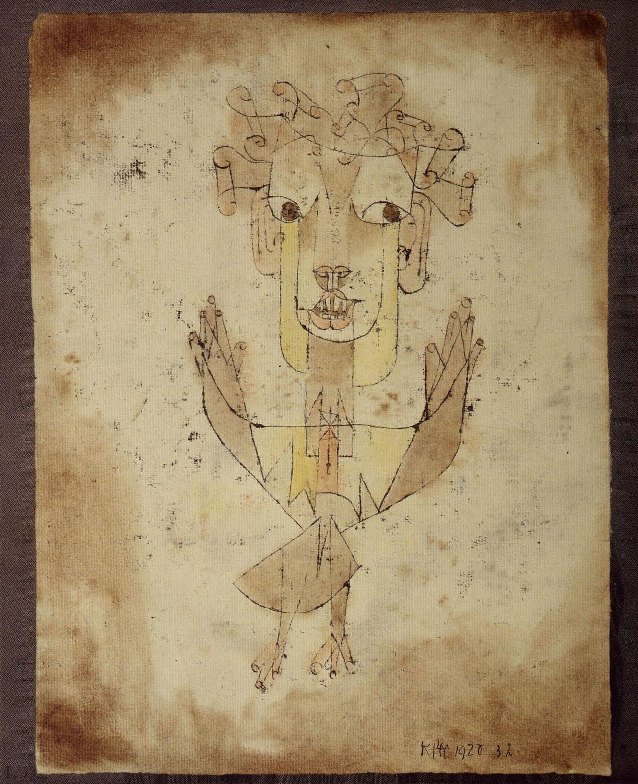 Пауль Клее. Angelus Novus (New Angel). 1920
