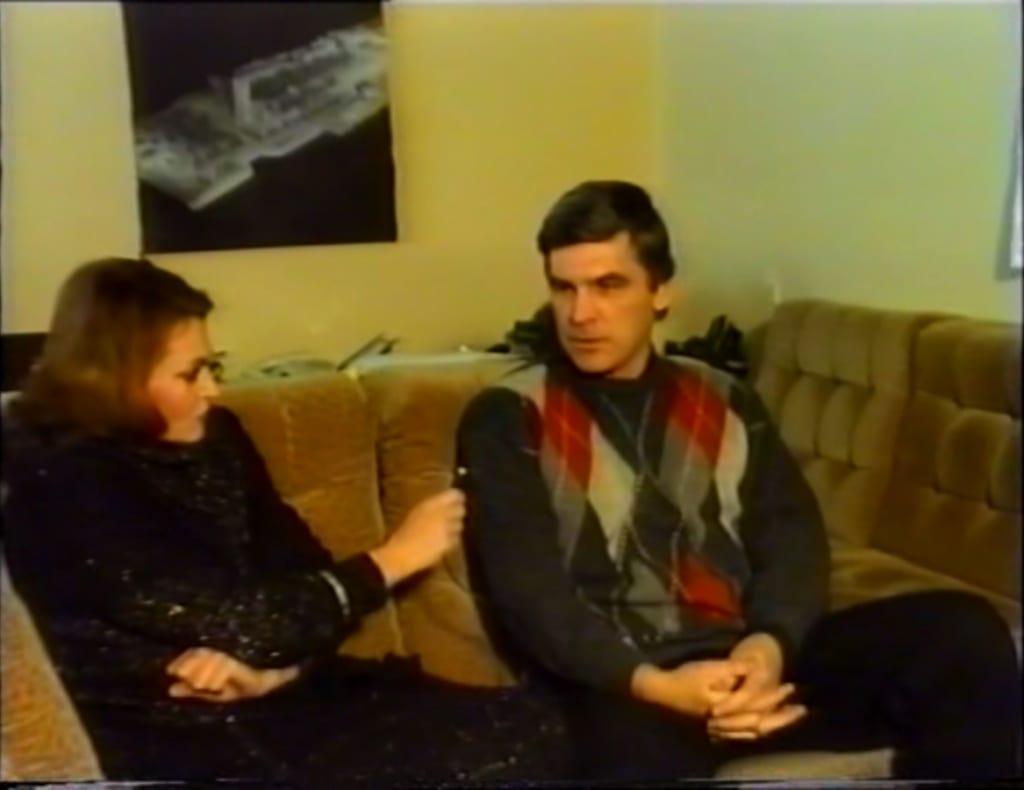 Любовь Яхонтова и Пётр Таращенко. Кадр из выпуска передачи «Арт-Студия»