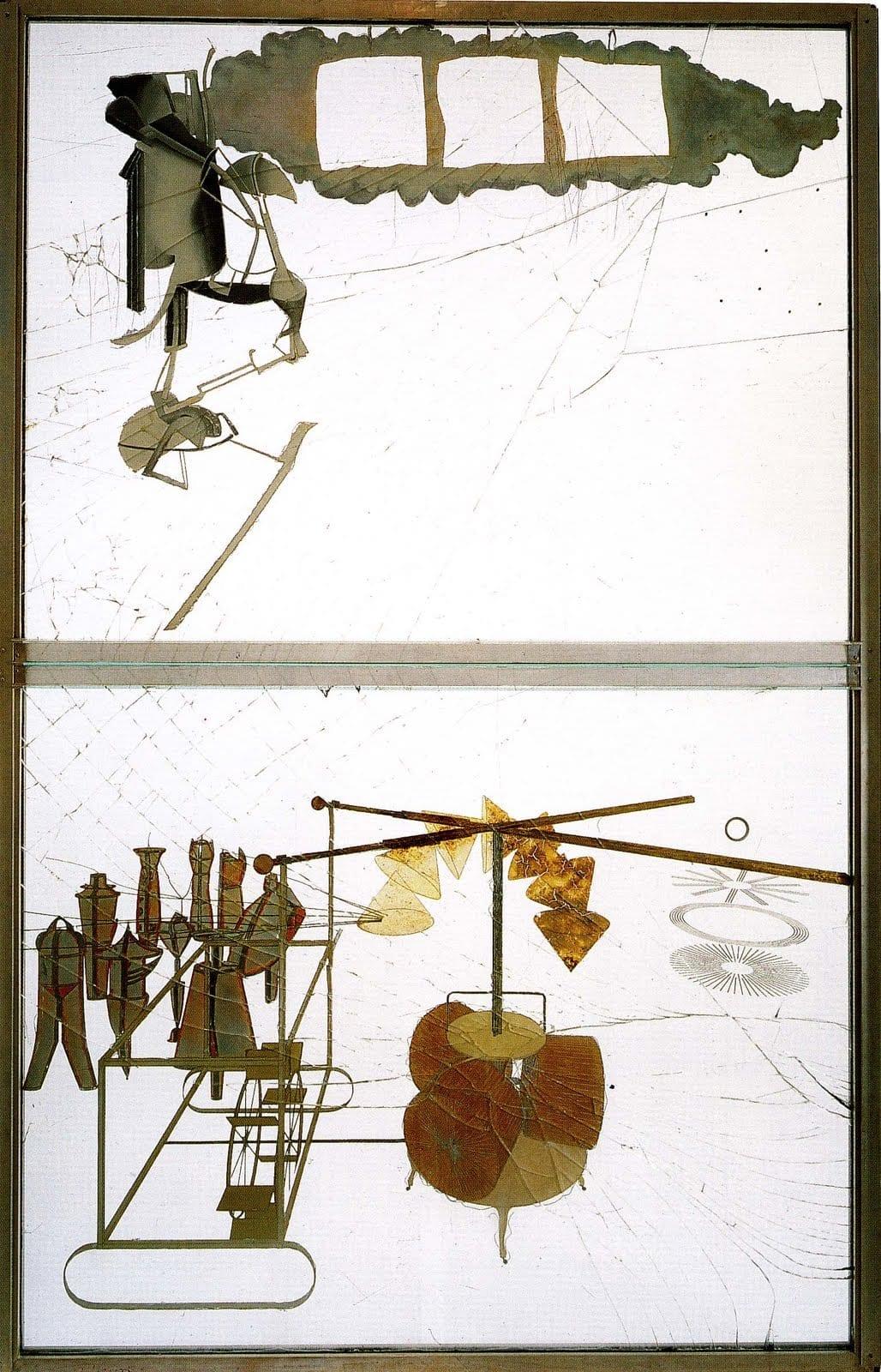 Марсель Дюшан. Большое стекло (Невеста, раздетая своими холостяками). 1915–1923