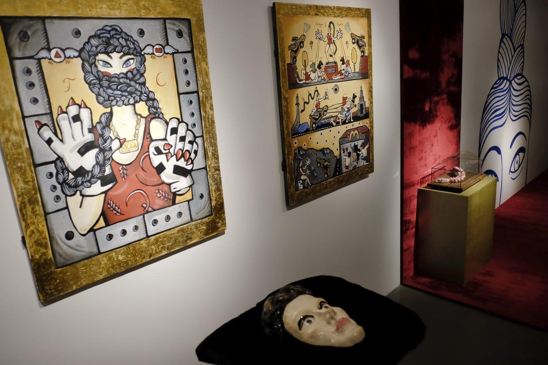 5. Вид экспозиции выставки Ульяны Подкорытовой _Косая_