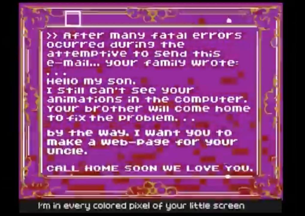 Скрин-шот из видео «I'm net artist» группы «Area 3»