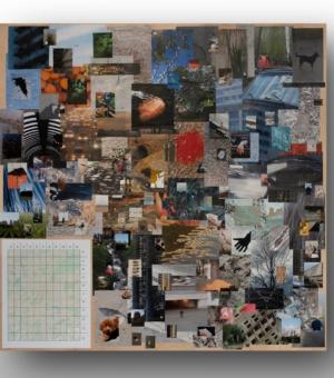 Лена Цибизова, «Игра», 2019. Смешанная техника. Вид инсталляции на выставке «В тумане войны» в галерее «Ходынка». Предоставлено художницей.