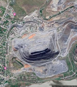 г. Сатка Челябинской области, снимок со спутника.